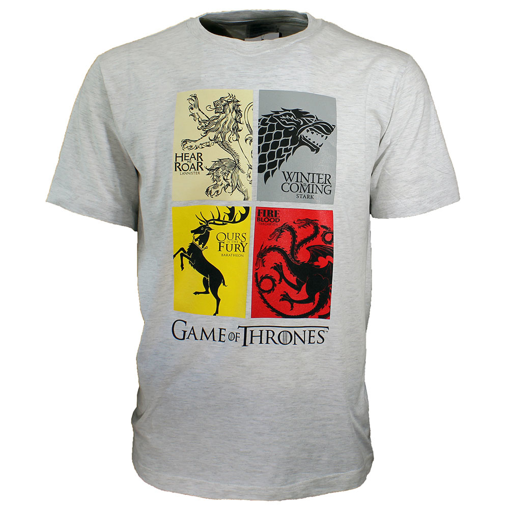 Game of Thrones Game of Thrones Heirs to the Throne T-Shirt Grey