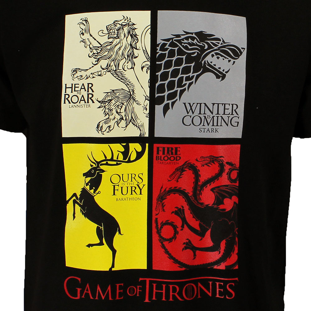 Game of Thrones Game of Thrones Heirs to the Throne T-Shirt Black
