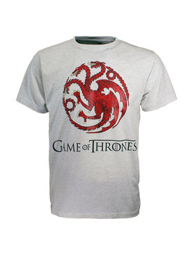 Game of Thrones Game of Thrones Dragon T-Shirt Grijs