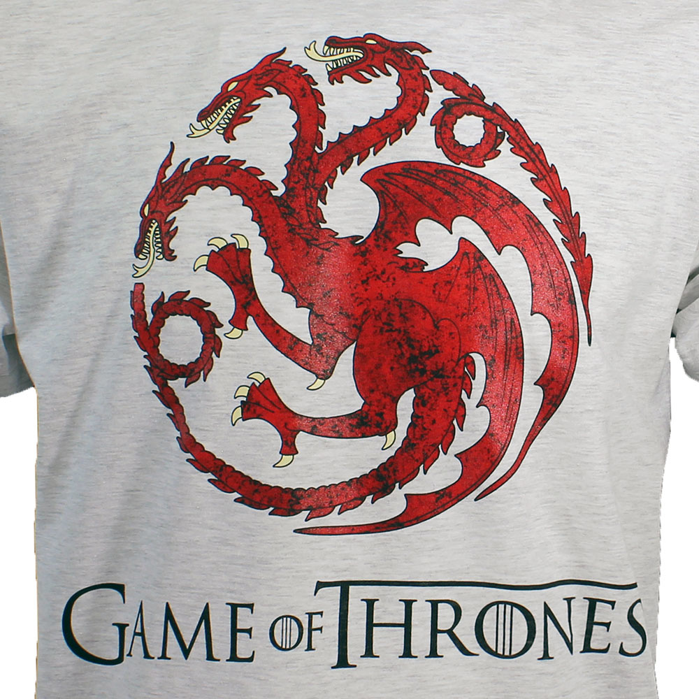 Game of Thrones Game of Thrones Dragon T-Shirt Light and Dark Coloured