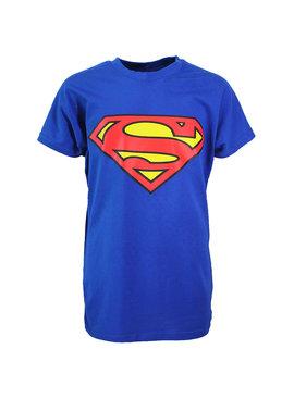 DC Comics: Superman, Batman, The Joker & The Flash Superman Logo T-Shirt Kinderen Blauw