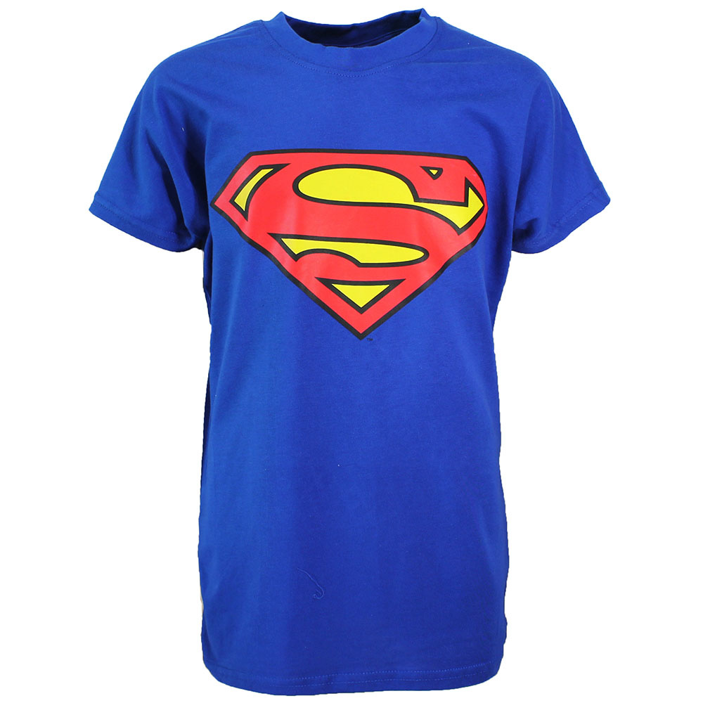 Superman Superman Logo T-Shirt Kids Blue Light / Dark Coloured