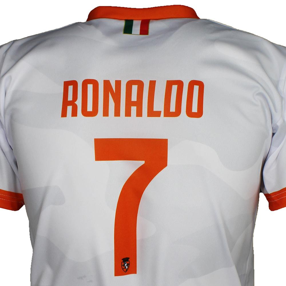 Voetbal Kleding / Football Clothing Juventus Replica Cristiano Ronaldo CR7 Away Matches Football Kit T-Shirt + Shorts Set Season 2019/2020 White