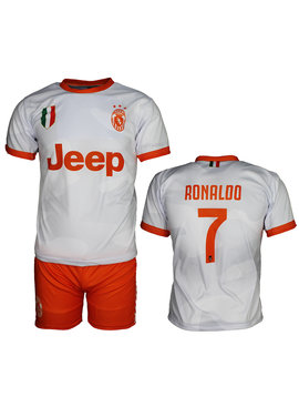 Juventus Replica Cristiano Ronaldo CR7 Uit Tenue Voetbalshirt + Broek Set Seizoen 2019/2020