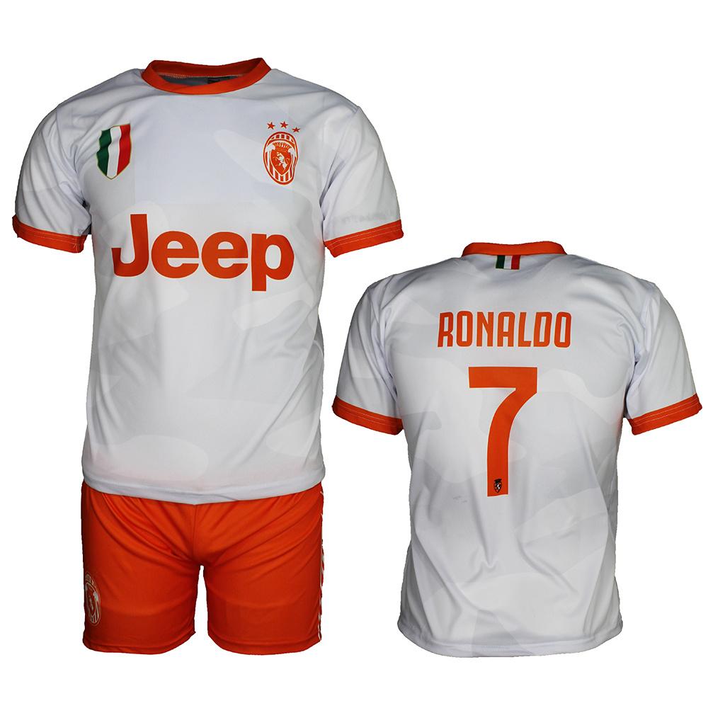 Juventus Replica Cristiano Ronaldo Cr7 Away Matches Football Kit T Shirt Shorts Set Season 2019 2020 White Popmerch Com