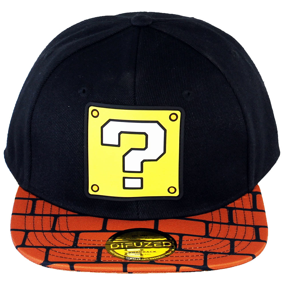 Super Mario Bros Nintendo Super Mario Bros Brick Block Snapback Cap Black