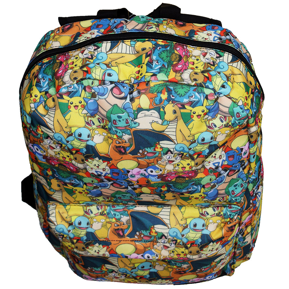 Pokémon Pokémon Characters  All over Print Backpack Multicolor