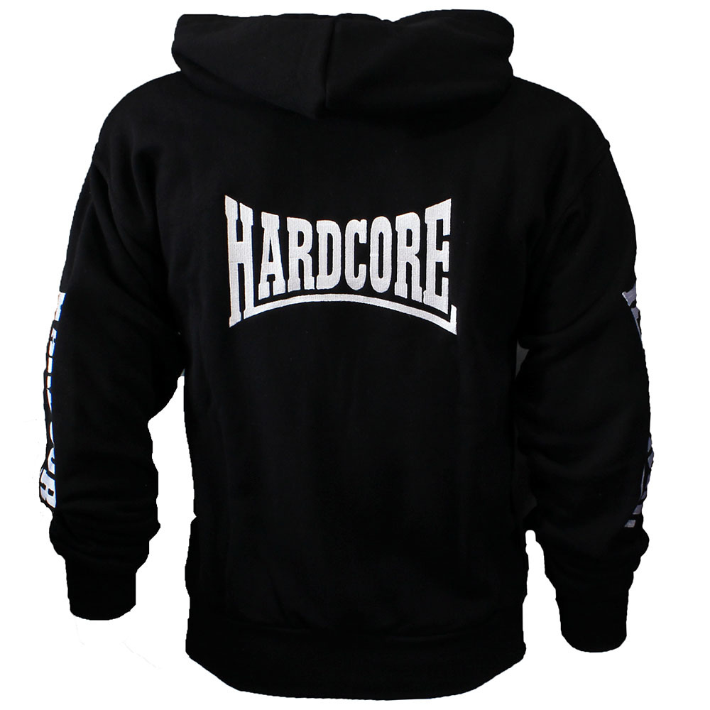 Hardcore Hardcore Logo Vest Hoodie met Rits Embroided Black