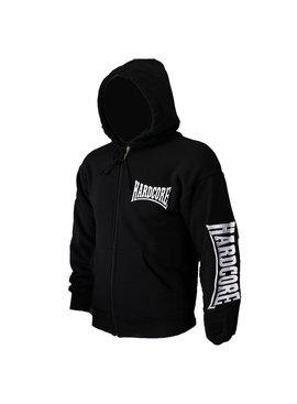 Hardcore Hardcore Logo Vest Hoodie met Rits en Capuchon geborduurd