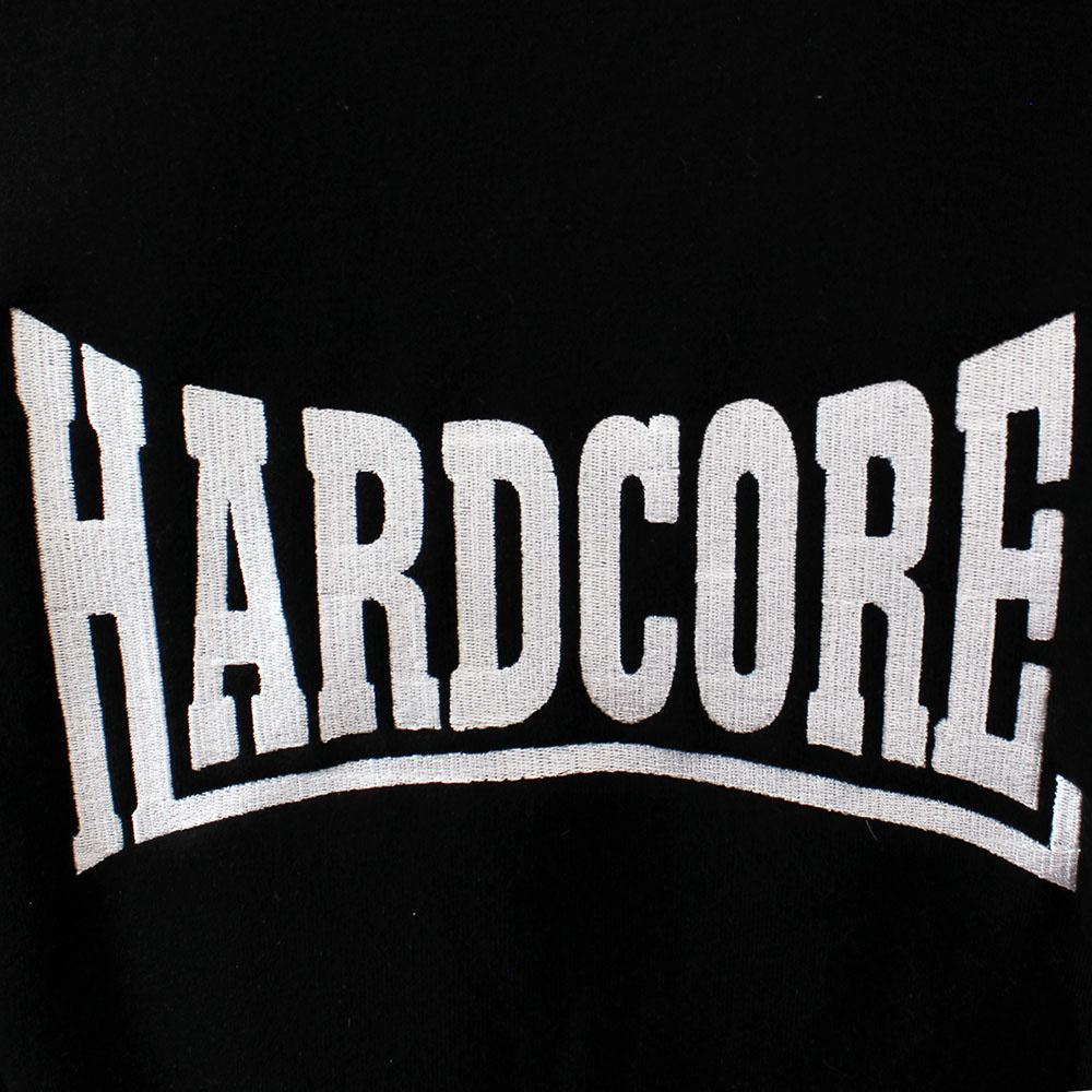 Hardcore Hardcore Logo Vest Hoodie with zipper Embroided Black