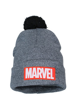Marvel Comics: The Avengers, Captain America, Spider-Man, The Hulk, Thor, Black Panther, Deadpool, Ant-Man, Iron Man, The Punisher Marvel Classic Logo Beanie Muts met Pom Pom