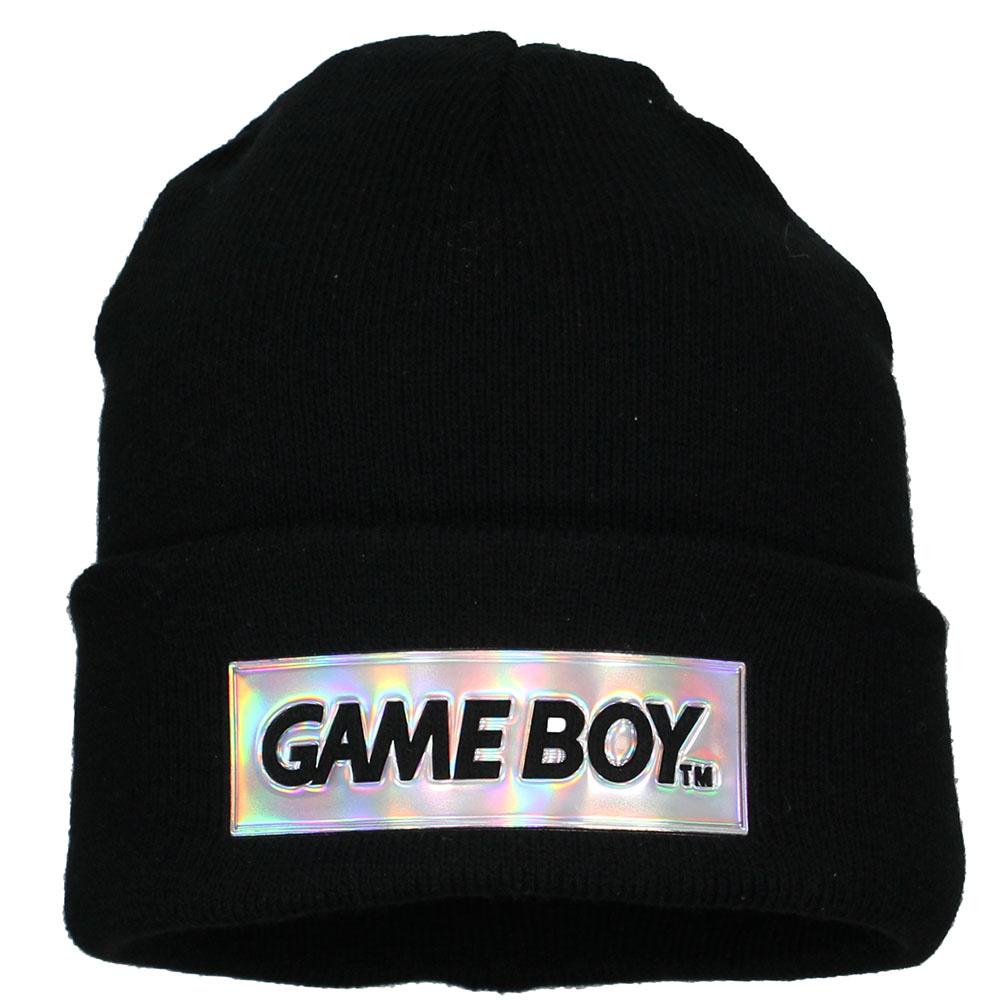 Nintendo Nintendo Game Boy Logo Block Beanie Hat Black