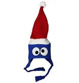 Sesame Street / Sesamstraat Sesamstraat cristmasKoekie Monster Winter Kerst Laplander Beanie Muts Blauw / Wit / Rood