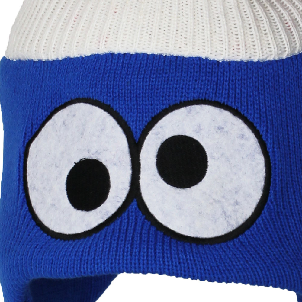 Sesame Street / Sesamstraat Sesamstraat Cookie Monster Winter Kerst Laplander Beanie Blue / White / Red