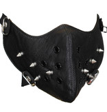 Facemasks Facemask with Long Metal Studs Leather Black