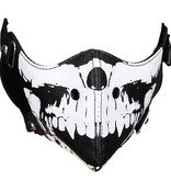 Facemasks Facemask Skull Print Leather Black