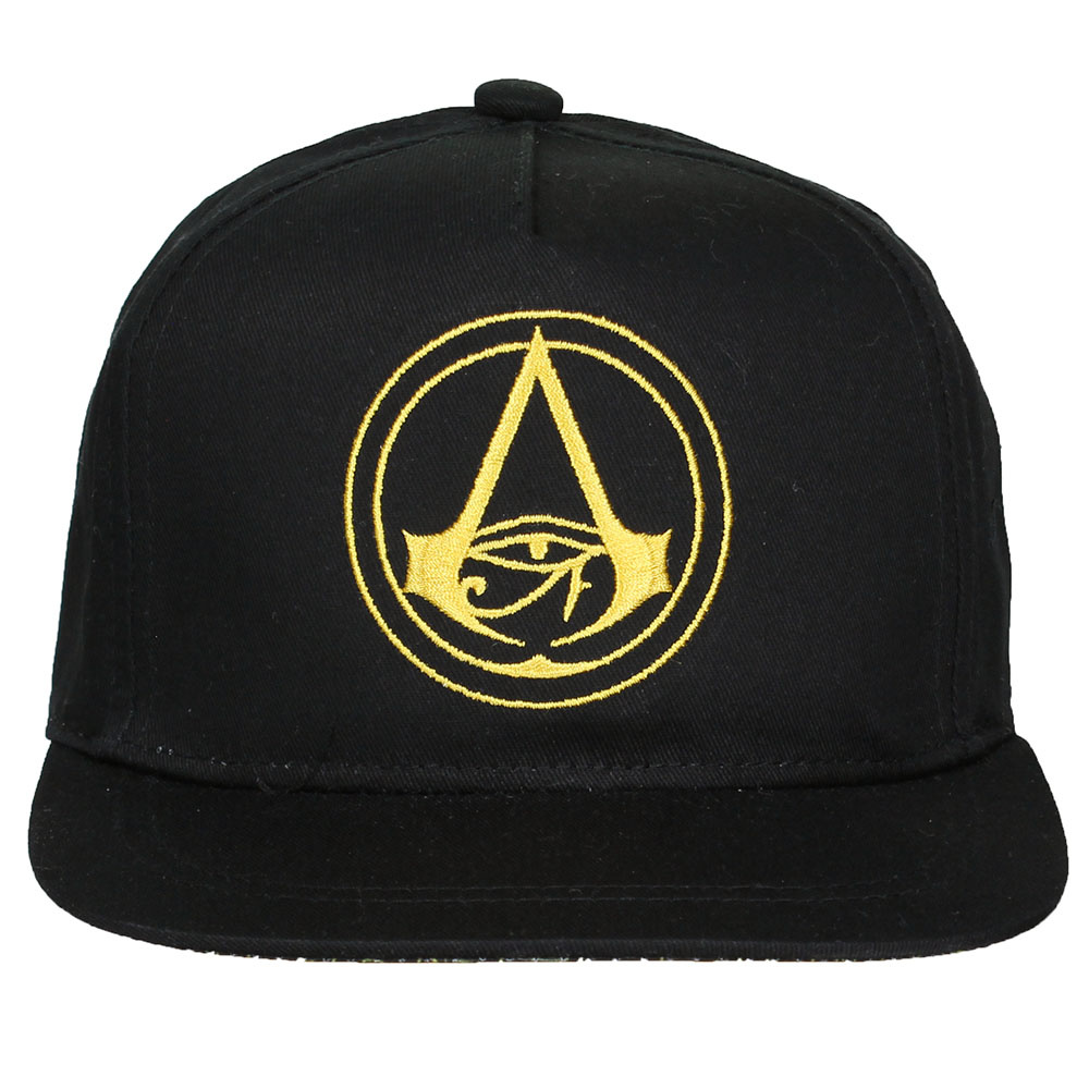 Assassin's Creed Assassin's Creed Origins Crest Logo Kids Snapback Cap with Details under Bill Black