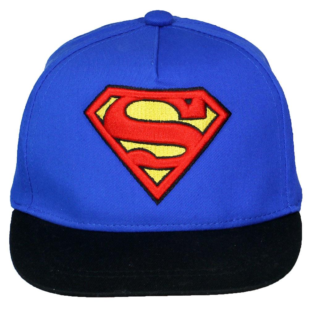 DC Comics: Superman, Batman, The Joker, The Flash & Suicide Squad Superman Classic Logo Verstelbare Volwassenen Snapback Cap Pet Blauw/Zwart/Rood