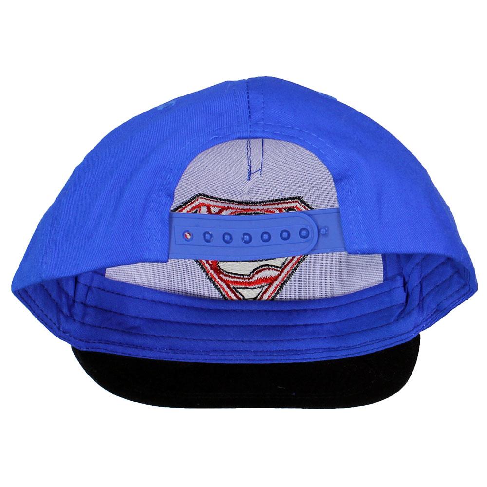 Superman Superman Classic Logo Adults Adjustable Snapback Cap Blue/Black/Red