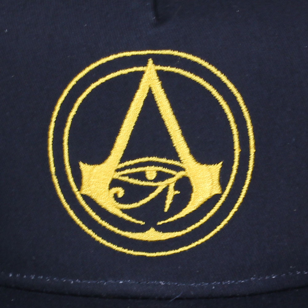 Assassin's Creed Assassin's Creed Origins Crest Logo Kids Snapback Cap with Details under Bill Dark Blue