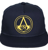 Assassins Creed Assassin's Creed Origins Crest Logo Kids Snapback Cap met Details onder Klep Donkerblauw