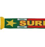 Suriname Suriname Gebreide Sjaal Groen/Rood/Geel