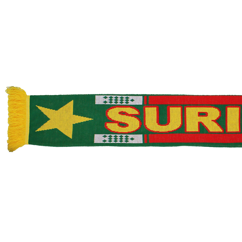 Fun & Fashion Suriname Knitted Scarf Green/Red/Yellow