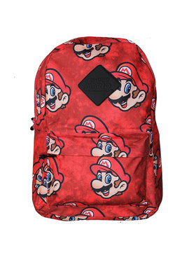 Super Mario Bros Nintendo Super Mario All Over Print Faces Backpack Rugtas