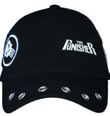 The Punisher Marvel Punisher Grunge Cap with Patches Black