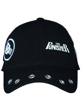 Marvel Comics: The Avengers, Captain America, Spider-Man, The Hulk, Thor, Black Panther, Deadpool, Ant-Man, Iron Man, The Punisher Marvel Punisher Grunge Cap with Patches