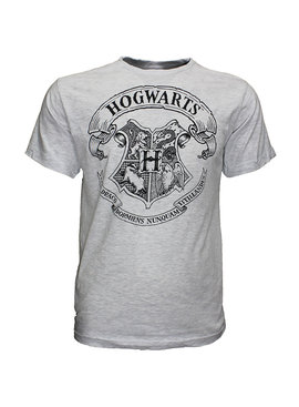 Harry Potter Harry Potter Hogwarts School Emblem T-Shirt Grey