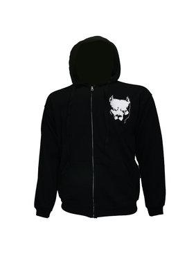 Hardcore Pitbul Logo Hoodie Vest met Rits en Capuchon