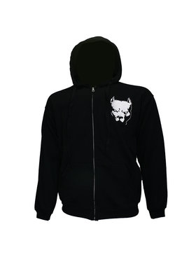 Hardcore Pitbul Logo Hoodie Vest met Rits