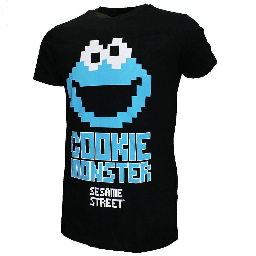 Sesame Street / Sesamstraat Sesamstraat Cookie Monster T-Shirt Zwart