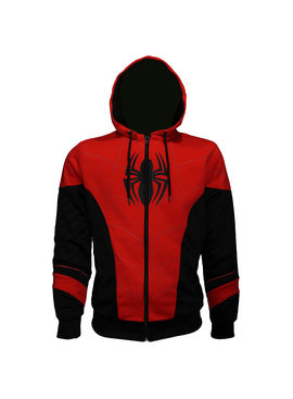 Marvel Comics: The Avengers, Captain America, Spider-Man, The Hulk, Thor, Black Panther, Deadpool, Ant-Man, Iron Man, The Punisher Spiderman Outfit Zipper Hoodie