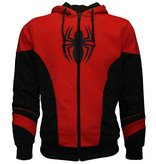 Spider-Man Spiderman Outfit Zipper Hoodie Red Black