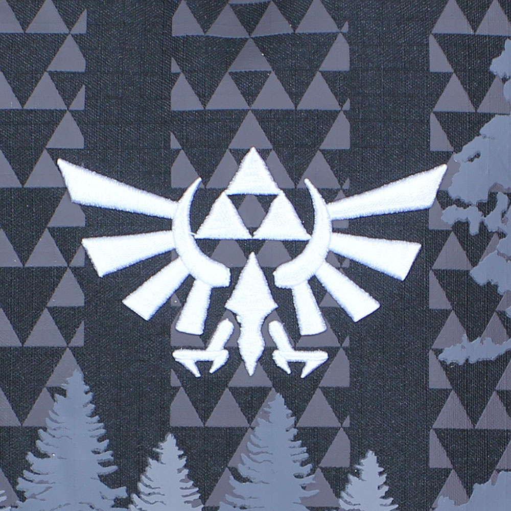 The Legend of Zelda The Legend of Zelda Hyrulian Crest Forest Rugtas Zwart Wit