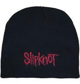 Metal & Rock Metal & Rock Slipknot Logo Beanie Muts Zwart Rood