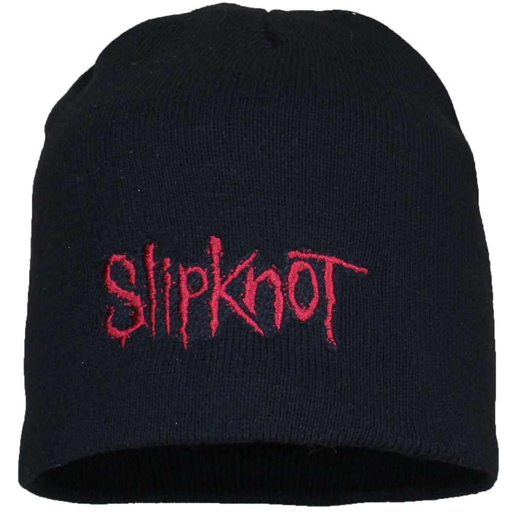 Slipknot Metal & Rock Slipknot Logo Beanie Muts Zwart Rood