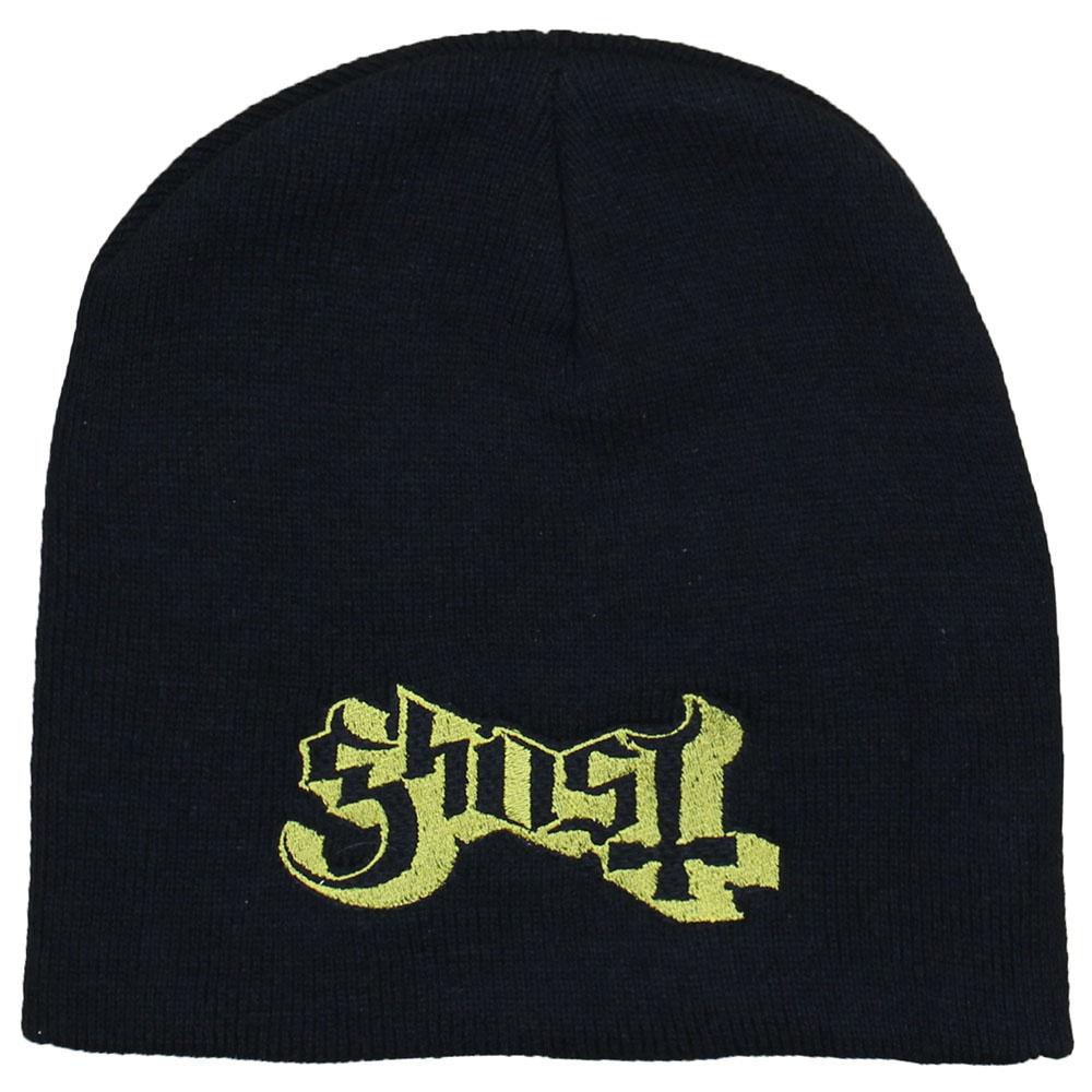 Metal & Rock Metal & Rock Ghost Logo Beanie Muts Zwart Goud
