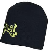 Metal & Rock Metal & Rock Ghost Logo Beanie Hat Black Gold