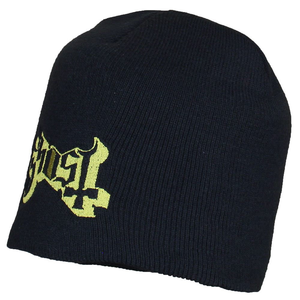 Ghost Metal & Rock Ghost Logo Beanie Hat Black Gold