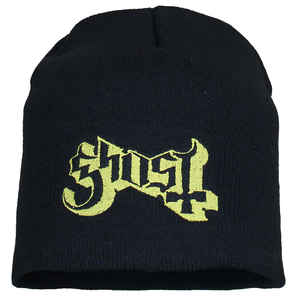Ghost Metal & Rock Ghost Logo Beanie Muts Zwart Goud