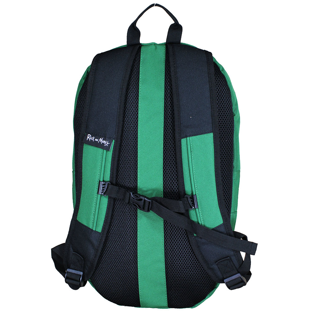 Rick and Morty Rick and Morty Pickle Rick Shaped Backpack Green