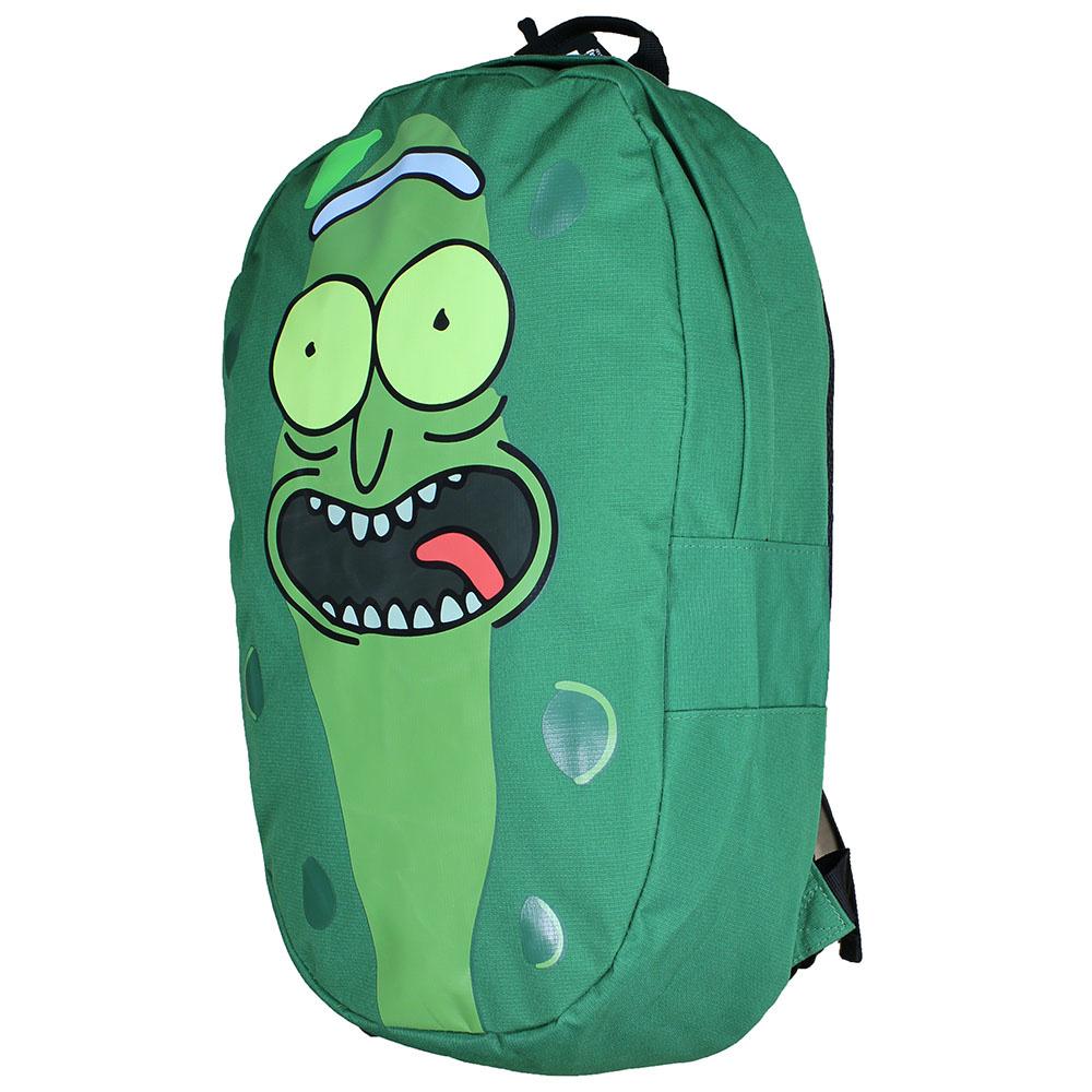 Rick and Morty Rick and Morty Pickle Rick Shaped Rugtas Groen