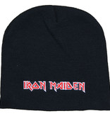 Metal & Rock Metal & Rock  Iron Maiden Logo Beanie Muts Zwart Wit Rood
