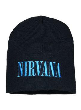 Band Merchandise Nirvana Logo Beanie Hat