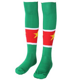 Voetbal Kleding / Football Clothing Suriname Football Socks Yellow / Green / Red