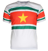Suriname Surinam Football T-Shirt White / Yellow / Green / Red