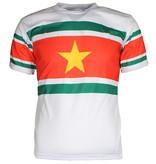 Suriname Suriname Voetbal T-Shirt Wit / Geel / Groen / Rood